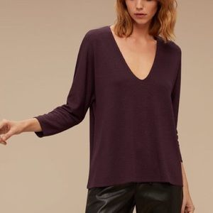 Aritzia Wilfred Free Aneta t-shirt burgundy